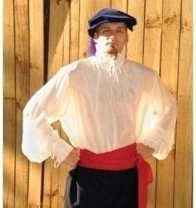 Satin Ruffled Shirt