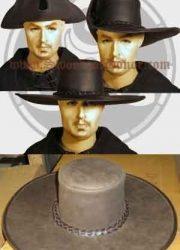 Versatile Leather Cavalier/Tricorn Hat