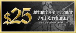 Gift Certificates Swords of Honor